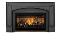 Roxbury 30 Direct Vent Gas Fireplace Insert with Antique Brass Louvers