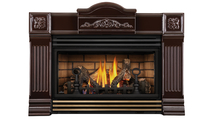 Roxbury Brown 30 Direct Vent Gas Fireplace with Antique Brass Louver