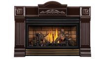 Roxbury Brown 30 Direct Vent Gas Fireplace Insert with Polished Brass Louver