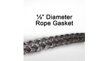"1/2"" black graphite impregnated rope gasket for wood stoves."
