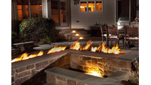 Linear Burner Ignition System in an outdoor setting