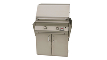 30 inch Solaire Cart Mount Grill shown with shelves down