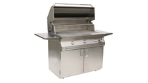 Solaire Cart Mount Grill shown open