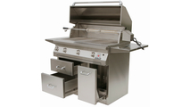 Solaire Cart Mount Grill shown with drawers