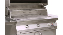 Solaire Cart Mount Grill grate and warming rack shown