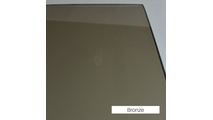 Bronze Tempered Glass - Replacement Fireplace Door Glass