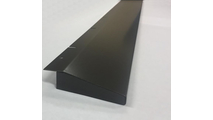 Inset Mount Fireplace Hood Matte Black