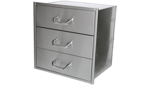 15 Inch Deep Solaire Wide 3 Drawer Set