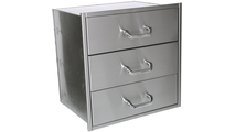 23 Inch Deep Solaire Wide 3 Drawer Set