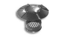 Round Black Galvanized Steel Chimney Cap