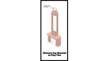 Chimney Cap Clay Flue Mounted