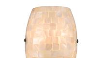 1-Light Capri Sconce Capiz Shell Close Up