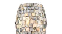 1-Light Capri Sconce Grey Capiz Shell Close Up