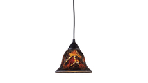 1-Light Firestorm Mini Pendant with Firestorm Glass