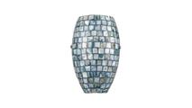 1-Light Capri Sconce Grey Capiz Shells Powered Off