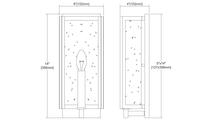 1-Light Inversion Sconce Dimensions