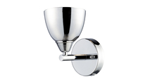 1-Light Reflections Wall Sconce in Polished Chrome Powered Off