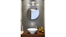 2-Light Semi Flush Elysburg in Satin Nickel Room Setting