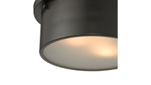 2-Light Simpson Flush Mount Close Up