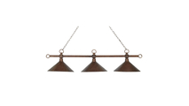 3-Light Designer Classics Island Light in Copper