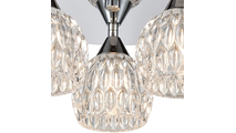 3-Light Kersey Semi Flush Mount Crystal Shades Close Up