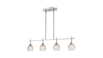 4-Light Kersey Island Light in Polished Chrome with Clear Crystal