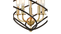 5-Light Iredell Pendant Base Close Up
