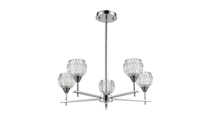 5-Light Kersey Chandelier in Polished Chrome