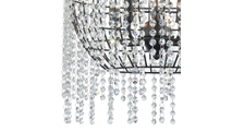 5-Light Yardley Chandelier Crystal Close Up