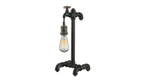 Jonas Table Lamp with Weathered Pipe Motif