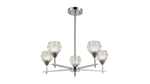 5-Light Kersey Chandelier in Polished Chrome & Clear Crystal