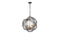 Oil Rubbed Bronze 5-Light Concentric Chandelier with Crystal Beads