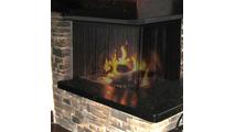 Black Recessed Corner Fireplace Scree