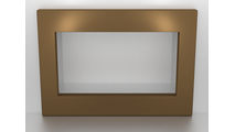 4 Sided Custom Fireplace Surround 3/16 Inch Laser Cut Steel - Aztec Gold