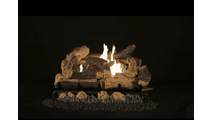 Kennesaw Vented Gas Log Set In Action