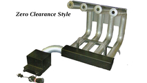 4 Tube Zero Clearance Style Fireplace Grate Heater