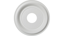 """1 1/4""""P Traditional Thermoformed PVC Ceiling Medallion"""