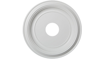 """1 3/8""""P Traditional Thermoformed PVC Ceiling Medallion"""