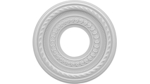 """3/4""""P Cole Thermoformed PVC Ceiling Medallion"""