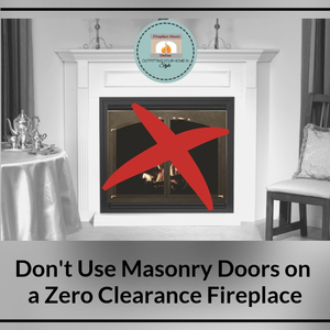 Pre-fab fireplace doors should never go on masonry fireplaces not only because of coding, but there are safety issues as well.