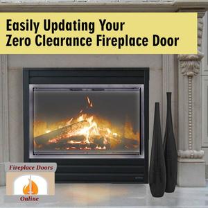 Make updating your zero clearance fireplace door a breeze!