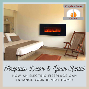 How can an electric fireplace enhance your rental?  In so many ways!