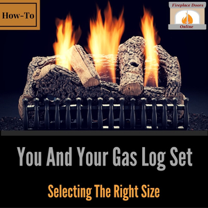 Measuring your fireplace to get the best size gas logs.