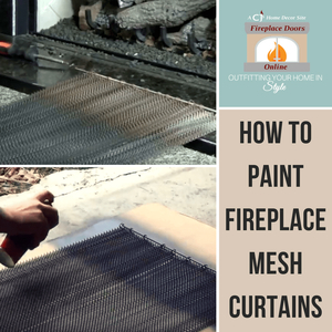 How To Paint Fireplace Mesh