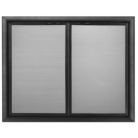 Basic Front Direct Vent Screen in Flat Black