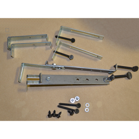 Extended Mounting Kit for Masonry Fireplace Doors