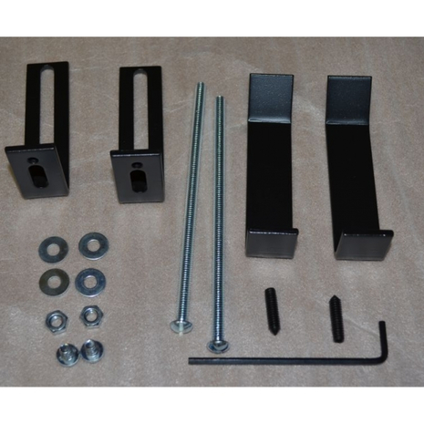 Stoll fireplace door mounting kit - Masonry fireplace doors