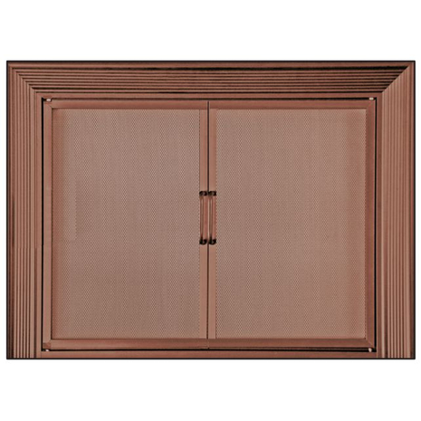 Decor Twin Panel Mesh Door In Copper