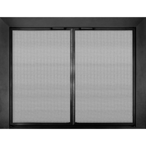 Reserve Twin Panel Mesh Door In Textured Bronze Iron