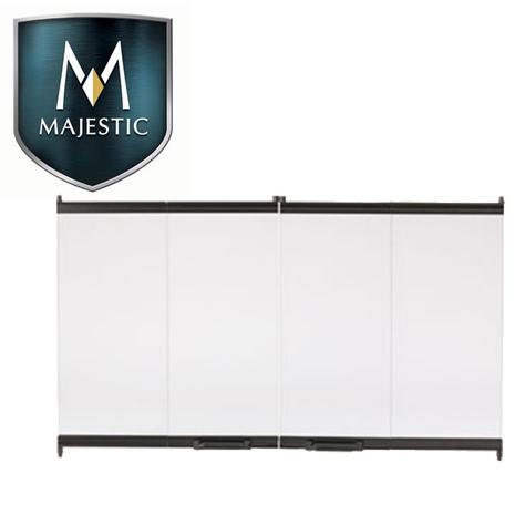 Black bi-fold replacement doors for Majestic Fireplaces' Royalton 36.